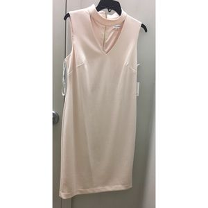 NWT Calvin Klein blush pink choker dress size 8